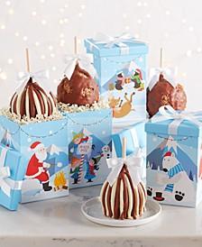 4-Pc. Winter Scene Caramel Apple Gift Set