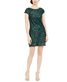Geo-Sequinned Shift Dress