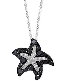 "EFFY® Diamond Starfish 18"" Pendant Necklace (1/3 ct. t.w.) in 14k White Gold"