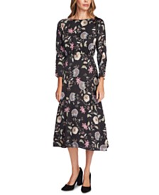 Vince Camuto Floral-Print Midi Dress