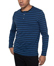 Men's Striped Henley Shirt