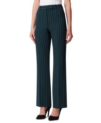 Petite Pinstriped Pants