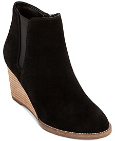 Naila Waterproof Wedge Booties, Created for Macy's
