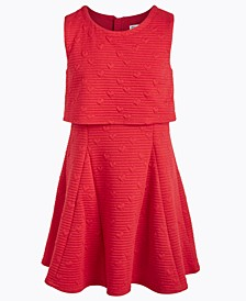Big Girls Embossed-Heart Popover Dress, Created For Macy's