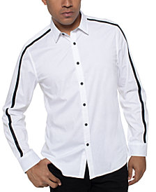 Kenneth Cole Men's Striped-Sleeve Shirt