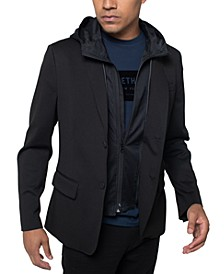 Men's Classic-Fit Hybrid Blazer with Removable Hooded Bib