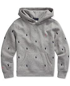 Polo Ralph Lauren Big Boys Pink Pony Vintage Fleece Knit Sweatshirt