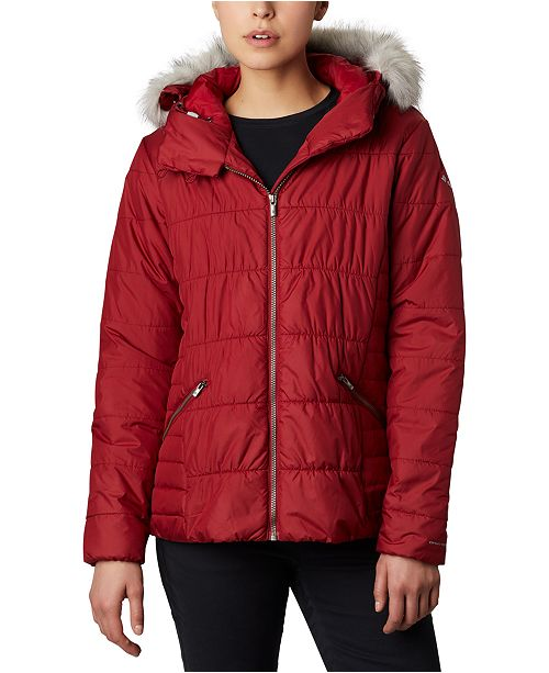 Columbia Sparks Lake™ Hooded Faux-Fur-Trim Coat