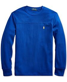 Big Boys Waffle Knit Sweatshirt