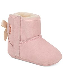 UGG® 2-Pc. Set Baby Girls Jesse Beanie and Bow Booties