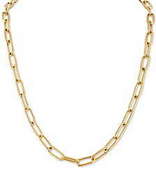 "Cable Link 22"" Chain Necklace in 14k Gold Ion-Plated Stainless Steel, Created For Macy's"