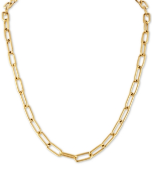 """Cable Link 22"""" Chain Necklace in Gold-Tone Ion-Plated Stainless Steel"""