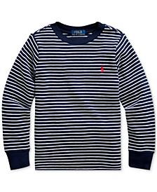 Little Boys Waffle Knit Stripe Sweatshirt, Created For Macy's