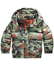 Little Boys Hawthorne Bear Graphic Camo Jacket