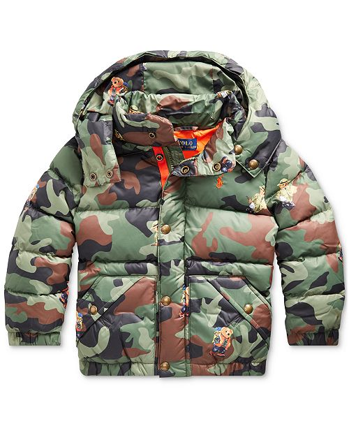 Polo Ralph Lauren Toddler Boys Hawthorne Bear Graphic Camo Jacket