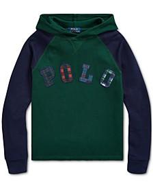 Big Boys Knit Waffle Hooded Sweatshirt