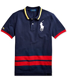 Big Boys Big Pony Cotton Mesh Polo Shirt