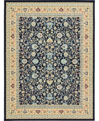 Arnav Arn1 Navy Blue 7' x 10' Area Rug