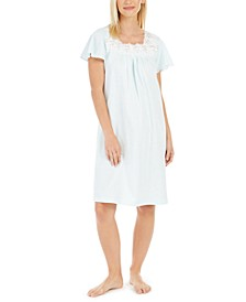 Women's Cotton Lace-Trim Nightgown