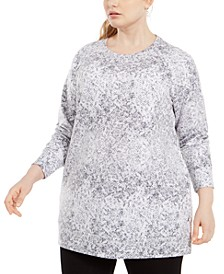 Plus Size Snakeskin-Print Pocketed Tunic