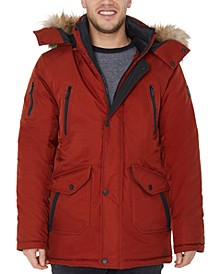 Men's Faux-Fur-Trim Parka Jacket