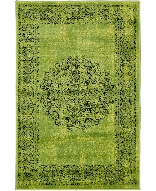Bridgeport Home Linport Lin5 Sage Green Area Rug Collection
