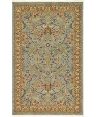 Harik Har1 Light Blue 5' x 8' Area Rug