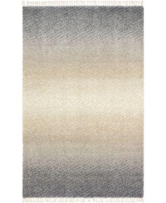 Lochcort Shag Loc5 Gray 5' x 8' Area Rug