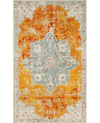 Mishti Mis8 Orange 8' x 8' Round Area Rug