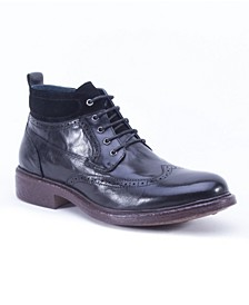 Men's Leather Casual Lace Up Boot