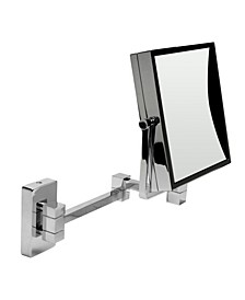 Square Wall Mounted 5x Magnify Cosmetic Mirror
