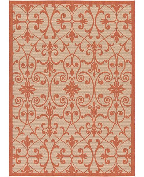 Bridgeport Home Pashio Pas5 Terracotta Area Rug Collection