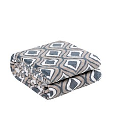 Ultra Soft Velvet Plush Throw Blanket, Ogee Print Pattern