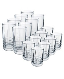 Luminarc Parallels Tumblers 16pc Set