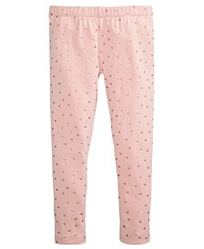 Little Girls Heart-Print Leggings, Created For Macy's