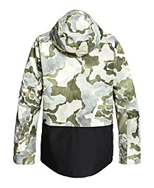 Mens Mission Printed Block Snow Jacket