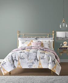 Paris 12-Pc. Reversible Comforter Sets