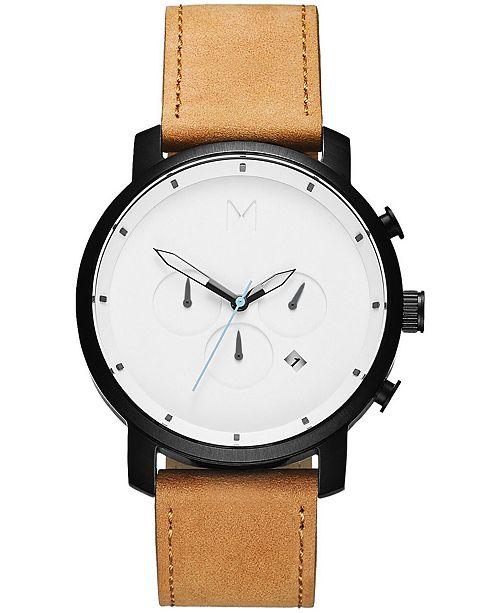 MVMT Men's Chrono Tan Leather Strap Watch 45mm