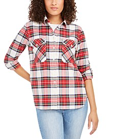 Elbow-Patch Flannel Shirt