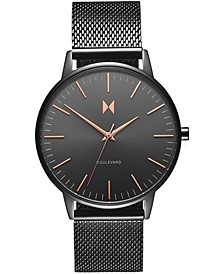 Women's Boulevard Lincoln Gunmetal Stainless Steel Mesh Bracelet Watch 38mm
