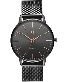 MVMT Women's Boulevard Lincoln Gunmetal Stainless Steel Mesh Bracelet Watch 38mm