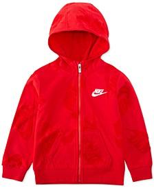 Toddler Boys Sportswear Jacquard Logos Zip-Up Hoodie