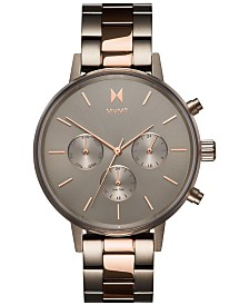 MVMT Women's Nova Orion Titanium & Rose Gold-Tone Stainless Steel Bracelet Watch 38mm