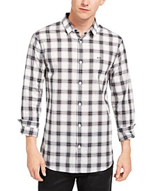 Men's Regular-Fit Stretch Plaid Shirt