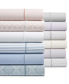 Waverly Cotton 450-Thread Count 6-Pc. Extra Deep Printed and Solid Sheet Sets
