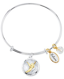 Tinkerbell Shaker Bangle Bracelet in Two-Tone Stainless Steel