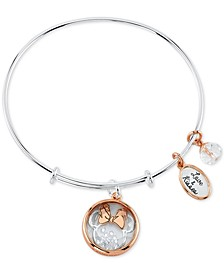 Minnie Mouse Shaker Bangle Bracelet in Two-Tone Stainless Steel