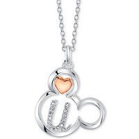 Disney Mickey Mouse Initial Pendant Necklace