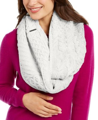 Patchwork Cable Infinity Scarf
