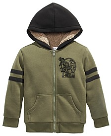 Little Boys T-Rex Fleece-Lined Full-Zip Hoodie, Created For Macy's